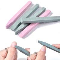 NAD014 Quartz Stone Nail Files Professional Sanding Buffer Block V-Shaped Nail Art Grinding Cuticle Remover Manicure Tools