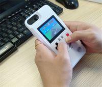 spielkonsole großhandel-Mini handheld spielkonsolen telefon case silikagel schutzhülle retro spielmaschine player farbe lcd für iphone6 7 8 8 plus x xs max xr