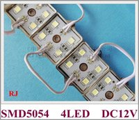 yüksek kaliteli led modül toptan satış-LED ışık modülü SMD 5054 LED modülü burcu mektup DC12V 4 led 35mm * 35mm Demir kabuk epoksi reçine su geçirmez IP65 yüksek kalite parlak CE