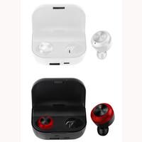 meilleur mini bluetooth pour iphone achat en gros de-Écouteurs sans fil TWS Écouteurs Mini Bluetooth Casque BT5.0 Écouteurs intra-auriculaires avec chargeur pour iPhone Smartphone DHL