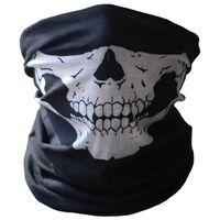 pescoço meio aquecedor meia máscara preto venda por atacado-Atacado-Yimistar # 4066D Bicicleta Esqui Caveira Meia Máscara Facial Fantasma Preto e Branco Imprimir Lenço Multi Uso Pescoço Mais Quente