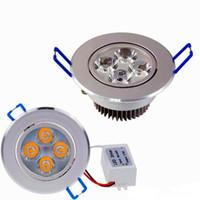 iluminação embutida venda por atacado-Novos Downlights 9W 12W AC85V-265V LED Downlight de teto Embutida Lâmpada de parede LED Spot light Com LED Driver Para Iluminação doméstica