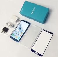 huawei octa çekirdeği 32gb toptan satış-Küresel ROM Huawei ONUR 9 lite Smartphone 5.65 '' Octa Çekirdek Android 8.0 Kirin 659 Parmak Izi 4 Kameralar 2160 * 1080 OTA Telefon