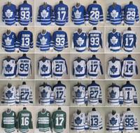 corbata domi al por mayor-Toronto Maple Leafs 27 Darryl Sittler jerseys 17 Wendel Clark Mats Sundin Doug Gilmour Tie Domi Darcy Tim Horton Dave Keon hockey de la vendimia