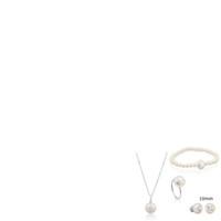 Wholesale spike bracelets fashion resale online - 100 Sterling Silver Bear Pearl Earrings Ruili Fashion Female Earrings Pendant Necklace Clavicle Chain Ring Fresh Bracelet