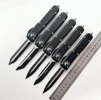 cuchillos tecnicos al por mayor-Cuchillo AUTO Micro-tech UTX-85 Doble acción Cuchillo automático Cuchillos tácticos de acción CNC Cuchillos de bolsillo M390 edc Cuchillos de autodefensa utx