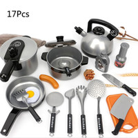 Wholesale girls kitchen play set for sale - Group buy 17Pcs Set Toddler Girls Baby Kids Play House Toys Kitchen Utensils Cooking Pots Pans Dishes Cookware Tools Toy