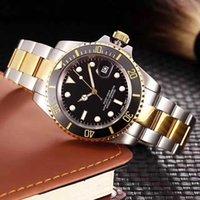 oval relógios homens venda por atacado-Novo Luxo Mens Relógios Relógios de Qualidade Moda Homens Pulseira De Aço Inoxidável Relógio Mecânico Automático 2813 Movimento Relógio De Pulso Safira