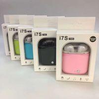 ingrosso gemme di mele-Sincronizzazione I7 TWS Twins Wireless Auricolari vivavoce Auricolare fone Bluetooth Auricolare in Ear Gems per iPhone Xiaomi Samsung tutti i telefoni cellulari