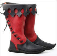 ingrosso moda stivali vintage-Nuovo Halloween Uomo Boots grande formato US13 Moda stivali da moto d'epoca Scarpe Cosplay Chirstmas Mens regalo Winter Snow Boot
