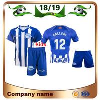 21a9a2d03 2019 Deportivo Alaves Kids Kit Soccer Jerseys 18 19 Alaves Home SOBRINO  GUIDETTI IBAI Soccer Shir BURGUI ADRIáNMARíN Football Uniform