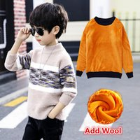 Wholesale teenage clothes styles for sale - Group buy Autumn Winter Wool Sweater for Boy Teenage Toddler Boy Warm Fleece Sweater High Quality Knitted Teen Clothes for Children T