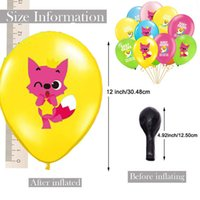 Wholesale carnival birthday party decorations resale online - Ins Baby Shark Cartoon Balloons Girls Boys Birthday Party Wedding Latex Balloon Kids Toy Supplies Carnival Home Decorations inch A52008