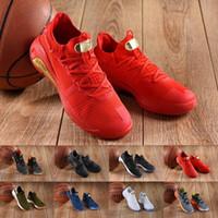 taille de curry achat en gros de-2019 curry chaussures de basket-ball utilitaires séries mens mode rouge noir blanc designer or VI baskets sportives sneakers taille 40-46