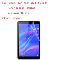 Wholesale transparent lcd screens resale online - Transparent Tablet LCD film Screen Protector for M5 Lite Honor quot T5 H Anti scratch without retail packing