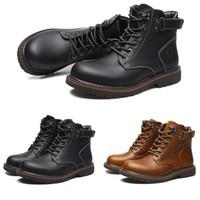 sapatos freeshipping venda por atacado-Freeshipping toda venda botas casuais homens moda botas de algodão clássicos preto marrom botas quentes impermeável formadores sapatos tênis tamanho 40-44