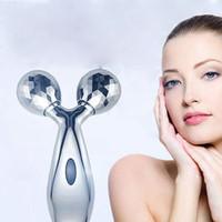 instruments de massage du visage achat en gros de-Portable 3D Rouleau Masseur Mince Visage Forme Du Corps Masseur Levage Rides Remover Facial Massage Relaxation Beauté Instrument