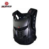 Wholesale motorcycle jacket chest protector resale online - Moto Armour Motorcycle Armor Motocross Chest Back Jacket Protector Vest Racing Protective Gear Body Guard Guards Race Equipment