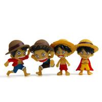 ingrosso un pezzo mini figure-mini giocattolo luffy di azione di trasporto all'ingrosso libero di figura UN PEZZO giocattoli del regalo di promozione per i ragazzi