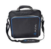 caso do jogo playstation venda por atacado-Jogo Sistema PS4 Bag Protect Shoulder Carry Case Bolsa para PlayStation 4 Acessórios à prova de choque Portátil pacote de viagem
