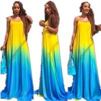 dfa6704ac86 Women Summer Color Changing Print Dresses Sexy Fashion Sling Maxi Dress  Casual Plus Size Party Evening Clothing S-5XL