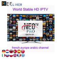 kostenlose arabische fernsehkanäle iptv großhandel-Französisch Arabisch Neotv iptv Abonnement Neopro 1300 Live-Kanäle 2000 Filme 1 Jahr kostenlos für Smart TV-Feuerstock Android TV-Box MAG 254 256