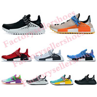 Wholesale trail running shoes for sale - Group buy PW Human Race Hu Trail X Men Running Shoes Pharrell Williams Nerd Black White Cream Tie Dye Sun Glow Womens Trainers Sports Sneakers