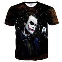 Wholesale summer man cool t shirt resale online - Newest Harajuku Joker Poker D Print Cool T shirt Men Women Short Sleeve Summer Tops Tees T shirt Fashion