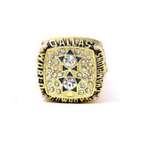 meisterschaft ring dallas großhandel-Super American Football 1977 Meisterschaftsring in Europa und Amerika Dallas Cowboys Championship Ring