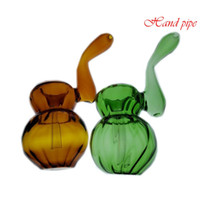 Wholesale small pieces smoke pipes resale online - colorful Glass Hand Pipes Cheap Pyrex Glass Tobacco Spoon Pipes Small Bowl Pipe Unique Pot Pipes Smoking Pieces