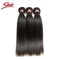 Wholesale 18 inch wig resale online - Sleek Straight Brazilian Hair Weave Bundles Deal Human Hair Vendors To Inch Remy Human Hair Bundles