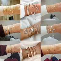 Wholesale leaf catcher for sale - Group buy 13 Styles Leaves Catcher Bracelets For Women Metal Geometry Pendant Bangles Stylish Crown Animal Flowers Creative Design Bangle