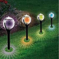 ingrosso lampade in plastica da giardino-Solar Lawn Lamp Outdoor Light Control Solar Lampade da giardino in plastica impermeabile Luci da prato all'aperto Garden Torch GGA2241