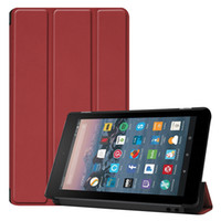 Wholesale kindle resale online - Tri folding PU Leather Case for Amazon Kindle New Fire Inch E reader Flip Protective Cover