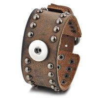 joyería de botón a presión vocheng al por mayor-10 unids / lote Snap Charms pulsera de moda de cuero para 18 mm botón Vocheng joyería intercambiable estilo remache NN-593 * 10