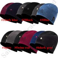 üst sınır toptan satış-Erkekler Geri dönüşümlü kasketleri Marka Polar Polar u bir Designer Caps Çift Taraflı Giyilebilir Şapkalar Açık Kayak Sporları Beanie Örme Cap Beanie 2019 C9604