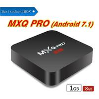 android tv mx2 großhandel-Fabrik Verkauf OEM MX2 MXQ PRO 4 Karat RK3229 Quad Core Android 7.1 TV BOX Mit Angepasstem 4K IPTV Media Player