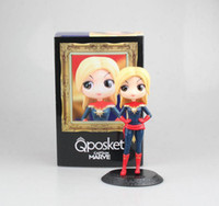 ingrosso vedove nere-PVC Captain Marvel Action Figures Black Widow Giocattoli per bambini Con scatola Avengers Alliance 3 Big Eye Doll Series Gift