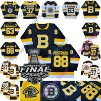 ingrosso pullover di hockey su boston-Boston Bruins Maglia Vintage Brad Marchand David Pastrňák Patrice Bergeron David Krejci Torey Krug Zdeno Chara Inverno Classic