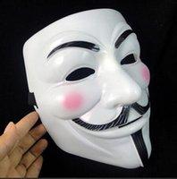 v máscaras anónimas al por mayor-Nueva fiesta de disfraces de máscara de Halloween Cosplay fiesta de Halloween Guy Fawkes V para Vendetta Anónimo fiesta de adultos decoraciones de máscara