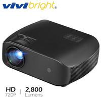 домашние 3d-проекторы оптовых-Проектор VIVIBRIGHT MINI F10up, 1280*720P, Android 7.1 (2G+16G) WIFI LED Proyector для домашнего кинотеатра 1080P 3D, новый видеомагнитофон HDMI
