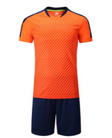 Wholesale suits for kids resale online - 2020 kids youth football suit is a customized training match team uniform for primary and middle school students