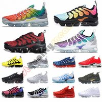 Wholesale table grapes resale online - 2019 TN Plus Rainbow Mens Running Shoes Bright Crimson Red Grape Triple Black Breathable Women Designer Casual Sneakers Trainers Size