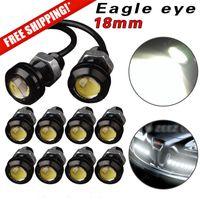 10Pcs 18mm 23mm 12V 24V 6000k White Eagle Eye Motor Car Tail Brake Turn Singal FOG LED Light Reverse Parking Signal White