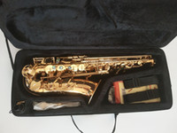 Wholesale mouthpiece ligature for sale - Group buy Best Quality Yanagisawa A Alto Saxophone E Flat Lacquer Gold Sax Alto Mouthpiece Ligature Reed Neck mouthpiece With case