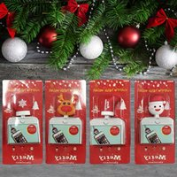Wholesale santa animals for sale - Data Line Protector Christmas Lovely Cartoon USB Cable Bite Santa Claus Tree Deer Toys Charger Cord Animals Holder with Retail Box