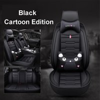 Wholesale seat covers ford resale online - High Quality PU Leather Cartoon car seat cover For Ford mondeo Focus Fiesta Edge Explorer S MAX Seat Cushion