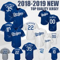 a635553b6da custom 35 Cody Bellinger Los Angeles jersey 22 Clayton Kershaw 10 Justin  Turner Men s Dodgers baseball base jerseys