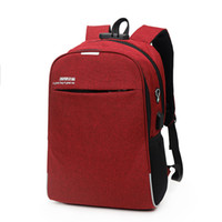 Wholesale laptop theft online - Outdoor Men USB Charge Backpack Creative Travel Business Unisex Anti Theft Laptop Backpacks Teenage School Book Bags LJJT477