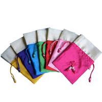 ткани подарки оптовых-Подарочные пакеты Tooget Sachet Ice Silk Fabric Bags Drawstring Cotton Bags 4x6 Inch для упаковки Попурри, 6-Pack